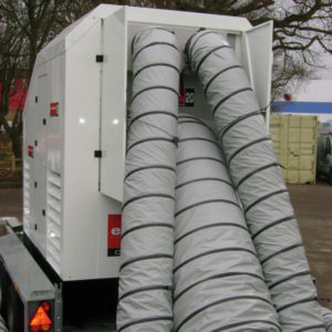 Portable heating ducting for HVAC uses